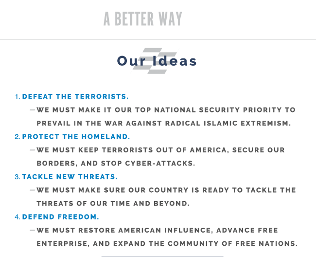 Better Way - National Security